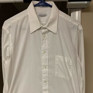 Christian Dior Plus De Coton Button Up Dress Shirt